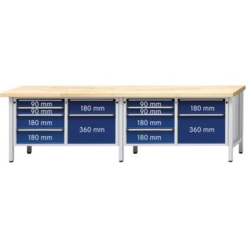 Werkbank Modell 216 V Platte mit Universalbel