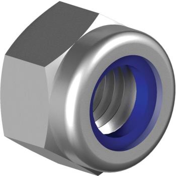 Sechskant-Sicherungsmuttern hohe Form DIN 982-A4 nichtmetall-Klemmteil M24