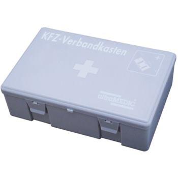 Erste-Hilfe-Verbandskasten grau mit Füllung DIN 13
