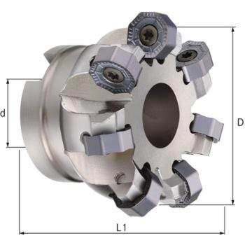 HPC-Planmesserkopf 45 Grad Durchmesser 100,00 mm Z = 9