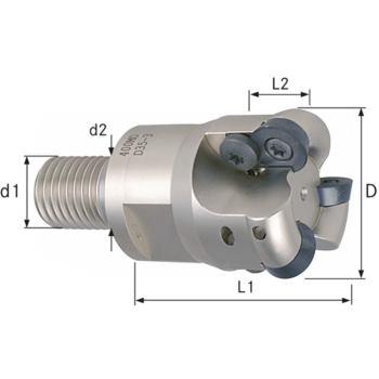 Aufschraubkopierfräser Durchmesser 15 mm, Z2, Gewi ndeschaft M 8