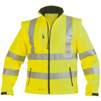 Warnschutz-Softshelljacke Klasse 3 gelb Gr. M