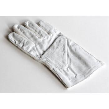 1 Paar Lederhandschuhe, Handrücken mit Baumwolle /