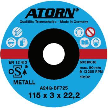Trennscheibe für Metall 115x3x22 mm Spezial Scheib e