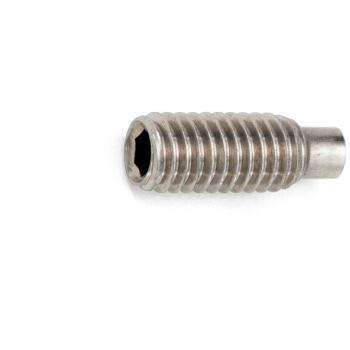 Gewindestift mit Innensechskant und Zapfen ISO 4028 Edelstahl A2 21H blank M10 x 10 100 Stück