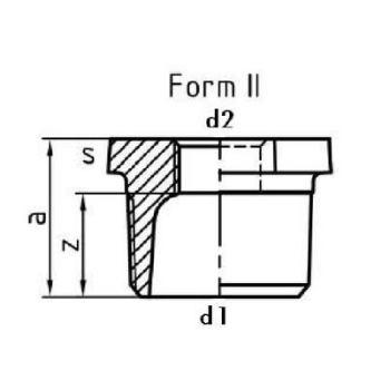 Reduziernippel EN10242 N4 Temperguss feuerverzinktV1 1/2 x 3/4 10 Stück