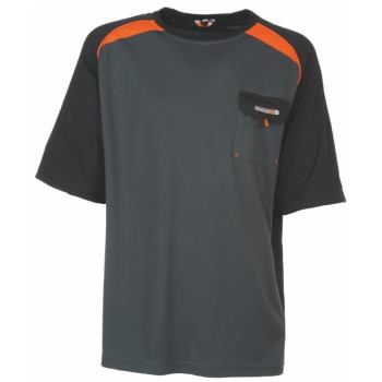 T-Shirt dunkelgrau/orange Gr. XXL