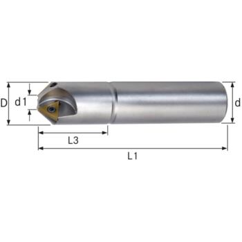 Wendeschneidplatten Fasenfräser 60 Grad Durchmesse r 26,0x 90 mm