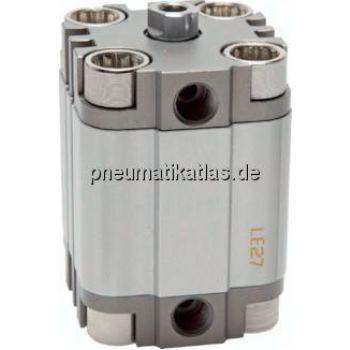 Kompaktzylinder, doppeltwir- kend, Kolben Ø 16 mm,Hub 20mm