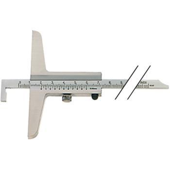 Tiefenmessschieber Schieblehre INOX 200 mm mit Haken Brücke 10