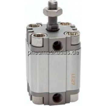 Kompaktzylinder, doppeltwir- kend, Kolben Ø 63 mm,Hub 30mm