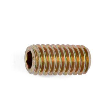 Gewindestift mit Innensechskant und Kegelstumpf ISO 4026 Stahl 45H gelb verzinkt M20 x 50 50 Stüc