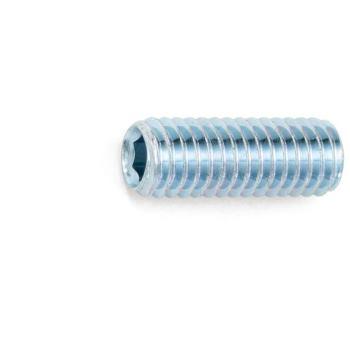 Gewindestift mit Innensechskant und Kegelstumpf ISO 4026 Stahl 45H verzinkt M2,5 x 3 1000 Stück