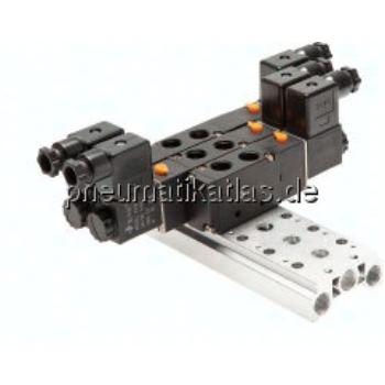 Mehrfachanschlussplatte (14- fach) für 5/2- und 5/3-Wege Ve