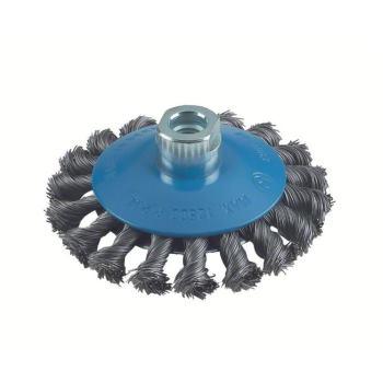 Kegelbürste, gezopfter Draht, 0,5 mm, 100 mm, 12 m