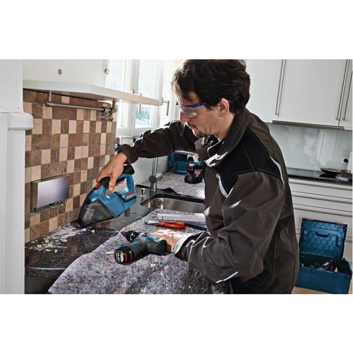 bosch akku staubsauger gas 12v mit 2x 2 5ah akku l boxx. Black Bedroom Furniture Sets. Home Design Ideas