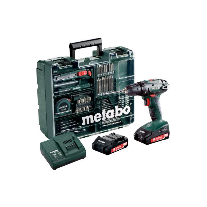 metabo 18 volt akku bohrschrauber bs 18 set mobile werkst. Black Bedroom Furniture Sets. Home Design Ideas