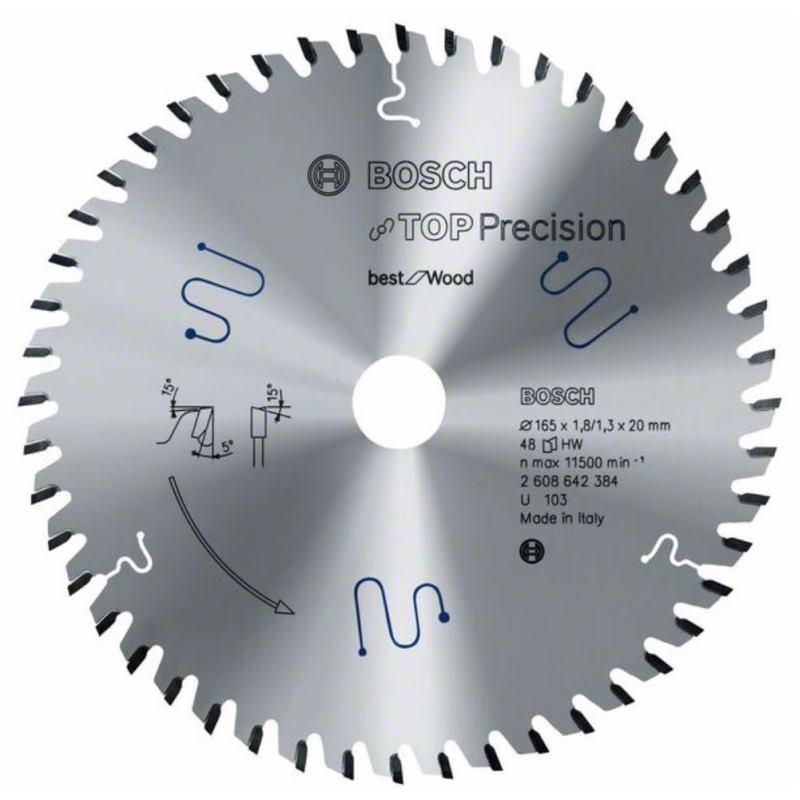 Ø 165mm Kreissägeblatt Top Precision für Holz