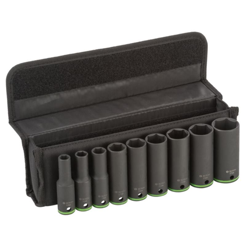 Steckschlüsseleinsätze-Set. 9-teilig. 77 mm. 10 -