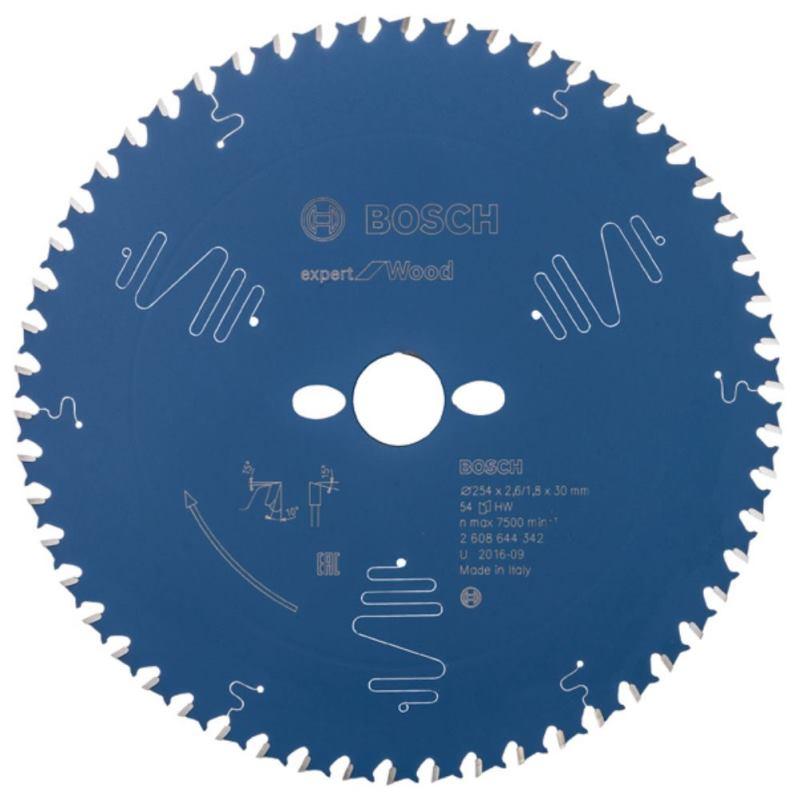 Ø 254x30mm Kreissägeblatt für Holz 54 Zähne