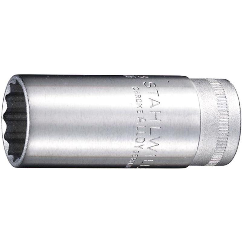 """3/8"""" Zoll Steckschlüsseleinsatz 12mm DIN 3124 lang"""