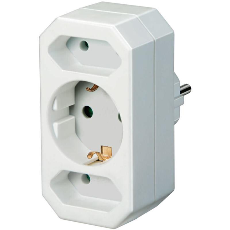 Adapterstecker Euro 2 + Schutzkontakt 1 1508050