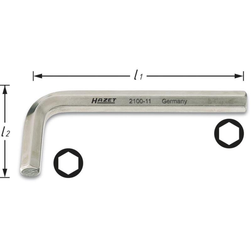 Winkelschraubendreher 2100-015 · s: 1.5 mm · Innen-Sechskant Profil