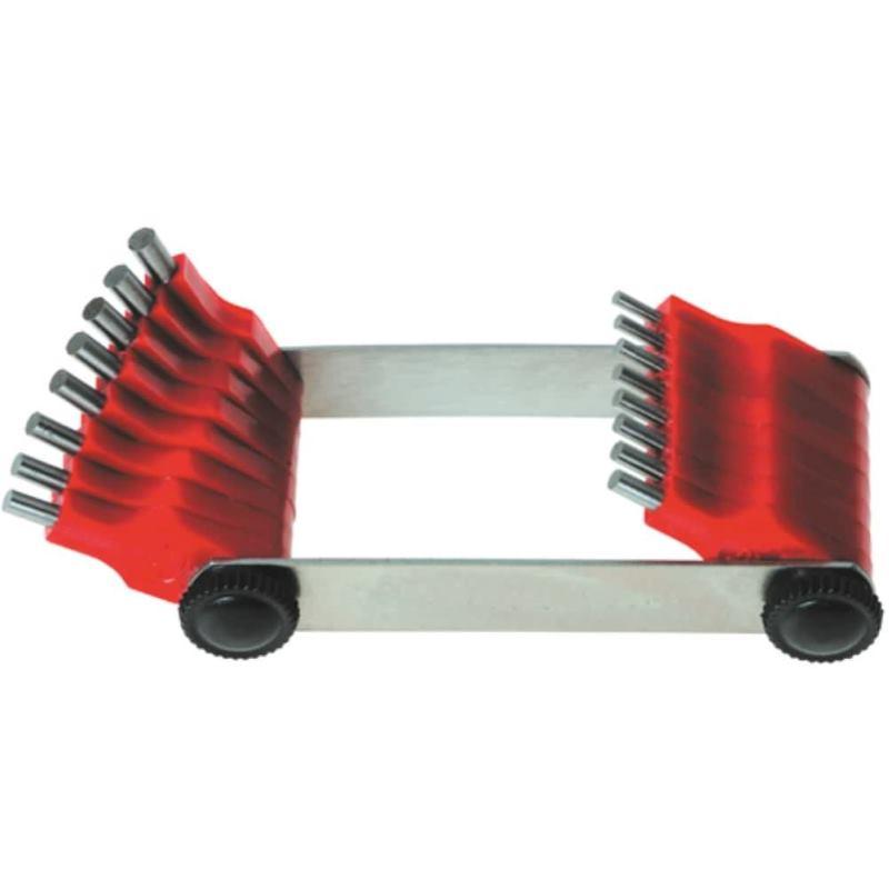 Düsenlehren mit Stahlstiften 0,45 - 1,50 mm 20 Mes