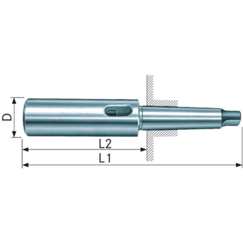 Verlängerungshülse MK 3/1 DIN 2187 gehärtet