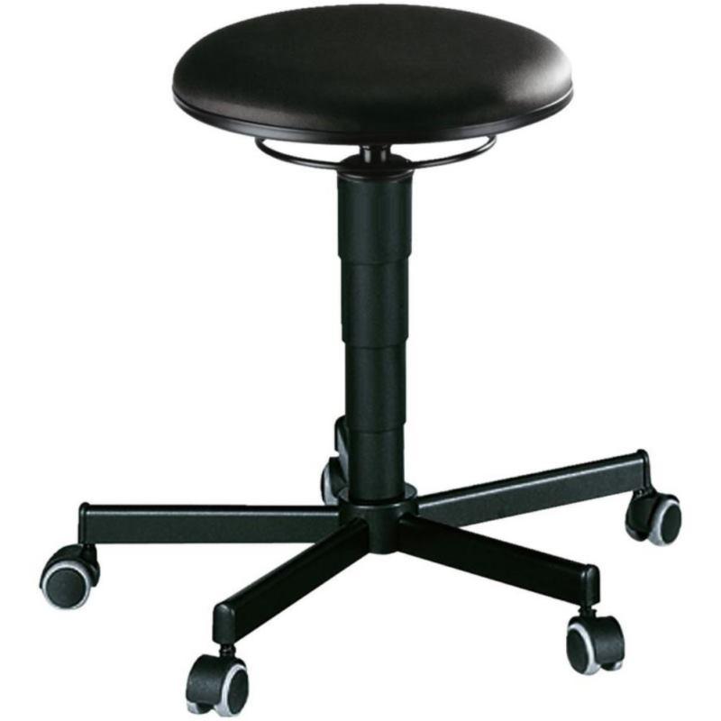 Hocker mit Rollen und Kunstlederpolster Sitzhöhe 460 - 630 mm 50120077