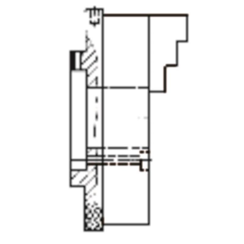 KRF 160, 3-Backen, mit Spannstift, Zylindrische Zentrieraufnahme, Gusskörper