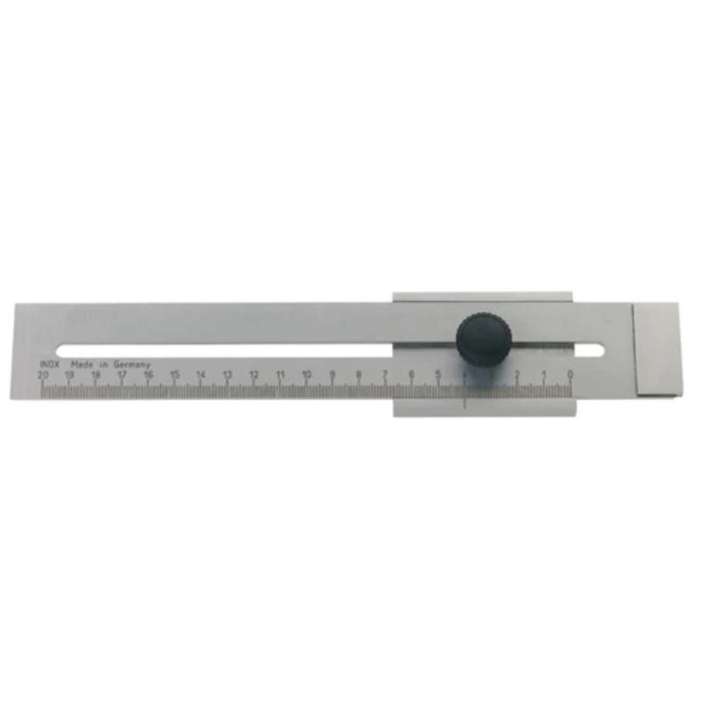 Streichmaß mattverchromt 200 mm
