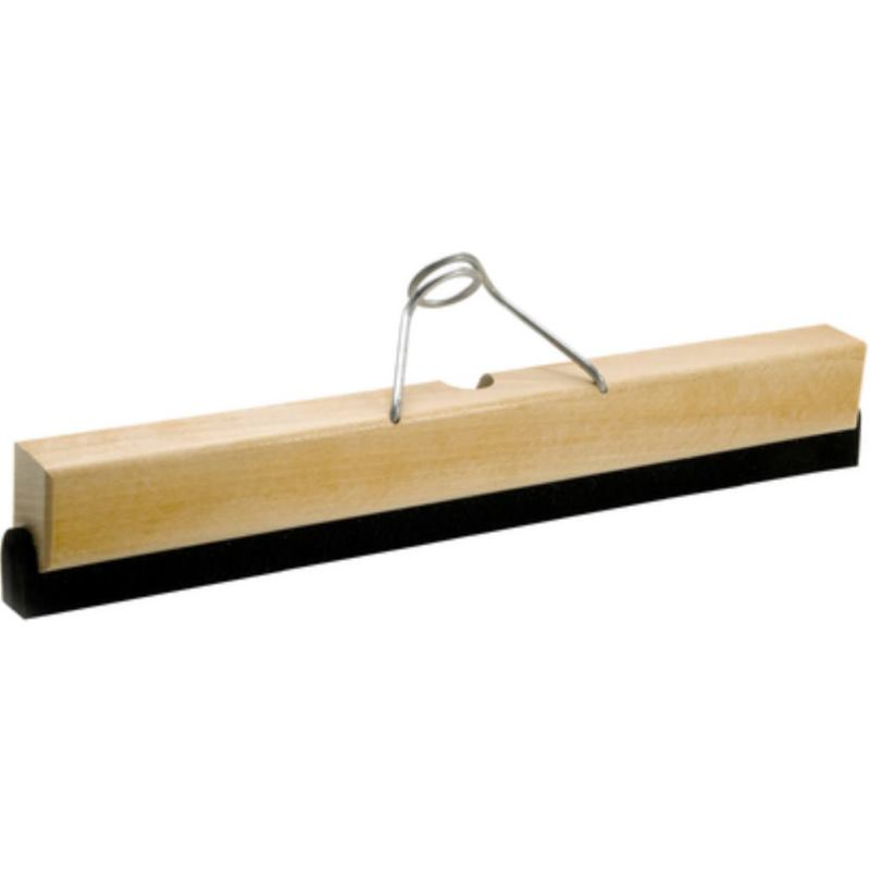 Wasserschieber mit Holzkörper . Schwammgummilippe. Breite 400 mm ohne Stiel