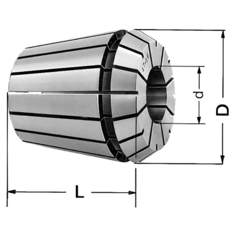 Spannzange DIN 6499 B ER 25 - 13 mm