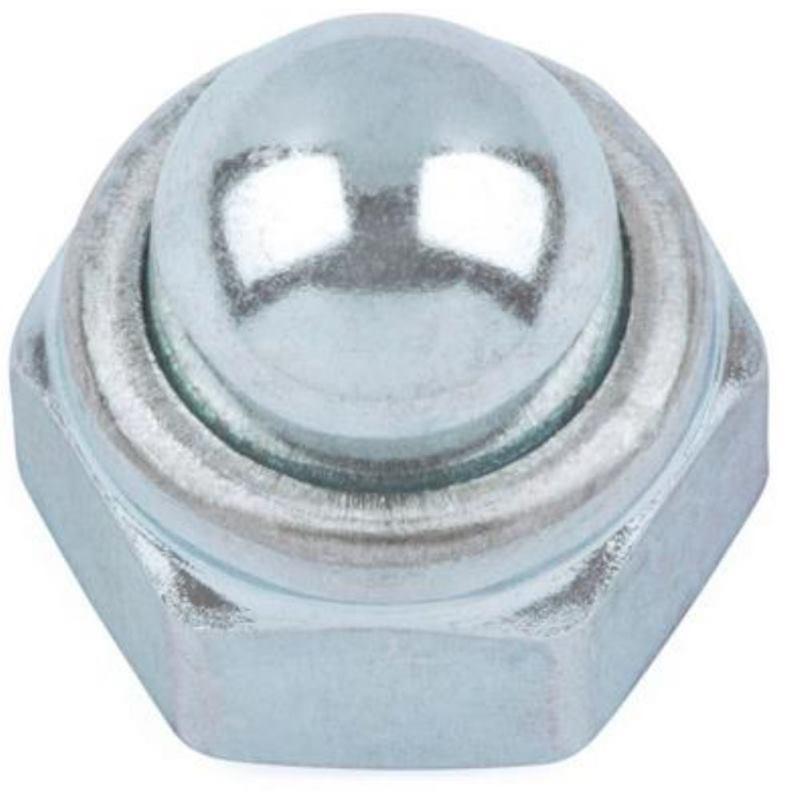Hutmutter selbstsichernd DIN 986 Stahl 8 verzinktM16 100 Stück