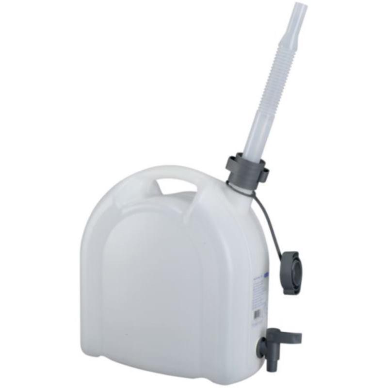Wasserkanister 10 l aus HDPE. mit Ablasshahn und flexiblem Auslaufrohr. 56076200