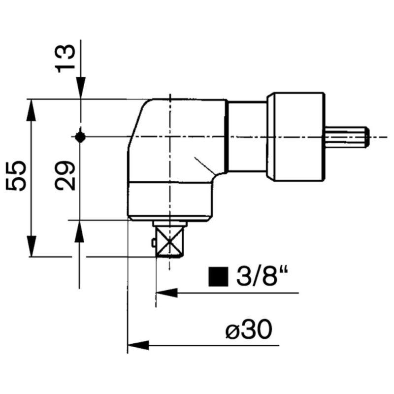 """Winkelkopf mit 3/8"""" AVKT bis 35 Nm18"""