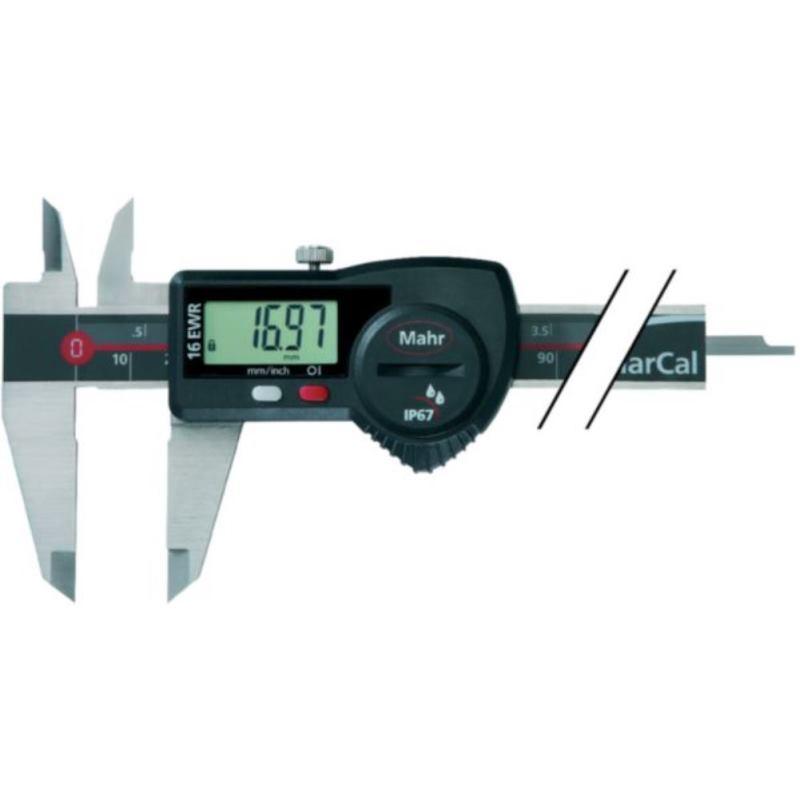 16 EWR Digitaler Messschieber 150 mm ohne Reibrad eckig Tiefenmaß m.Datenausgang 31181115