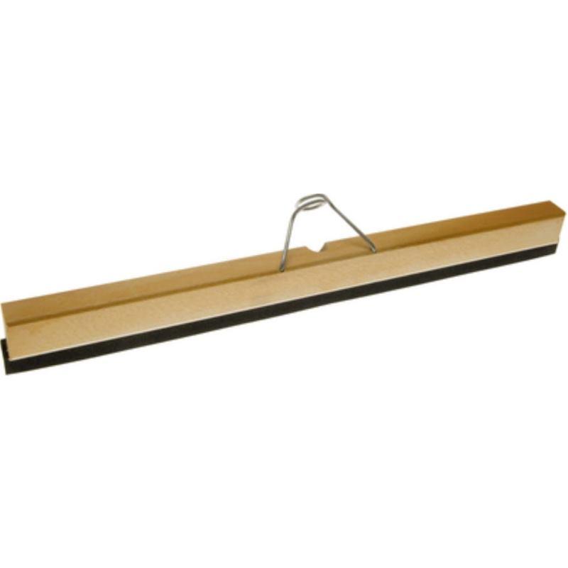 Wasserschieber mit Holzkörper . Schwammgummilippe. Breite 600 mm ohne Stiel