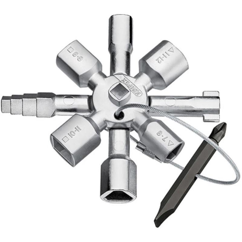 TwinKey Universal Schaltschrank Schlüssel DreikantVierkant