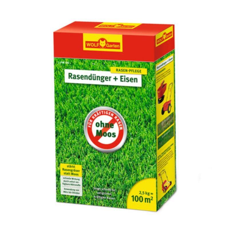 """Rasendünger """" Plus Eisen """" L-PM 100   2.5kg   für 100 m²"""