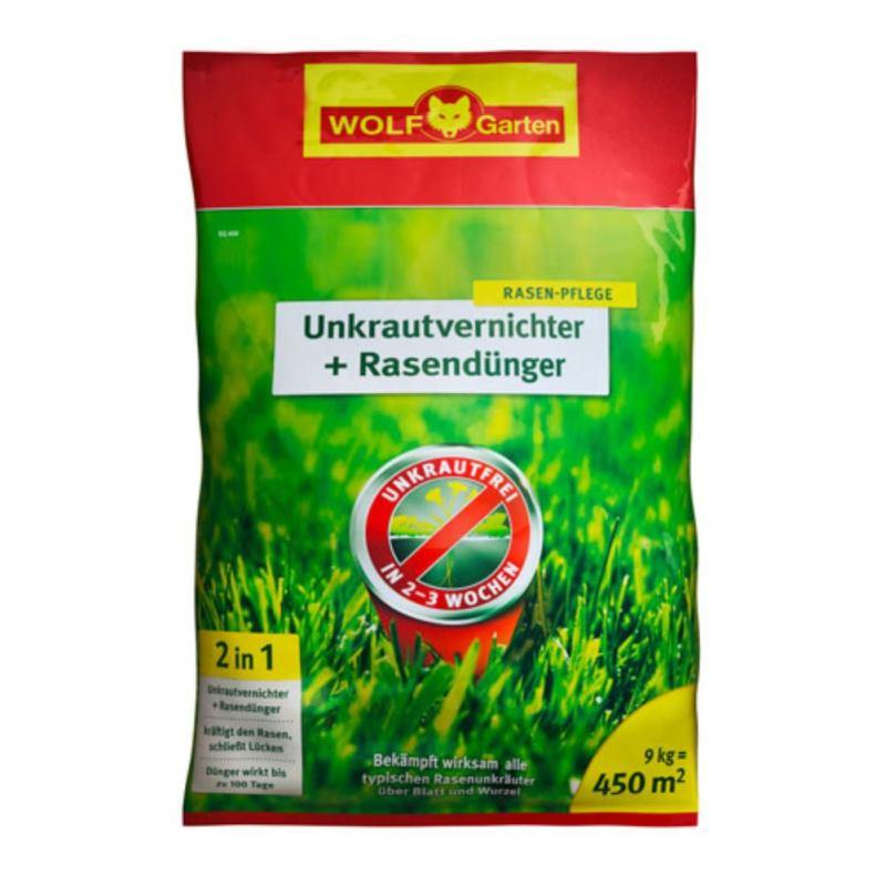 Unkrautvernichter + Rasendünger 2in1 SQ 450 | 9 kg | für 450 m²