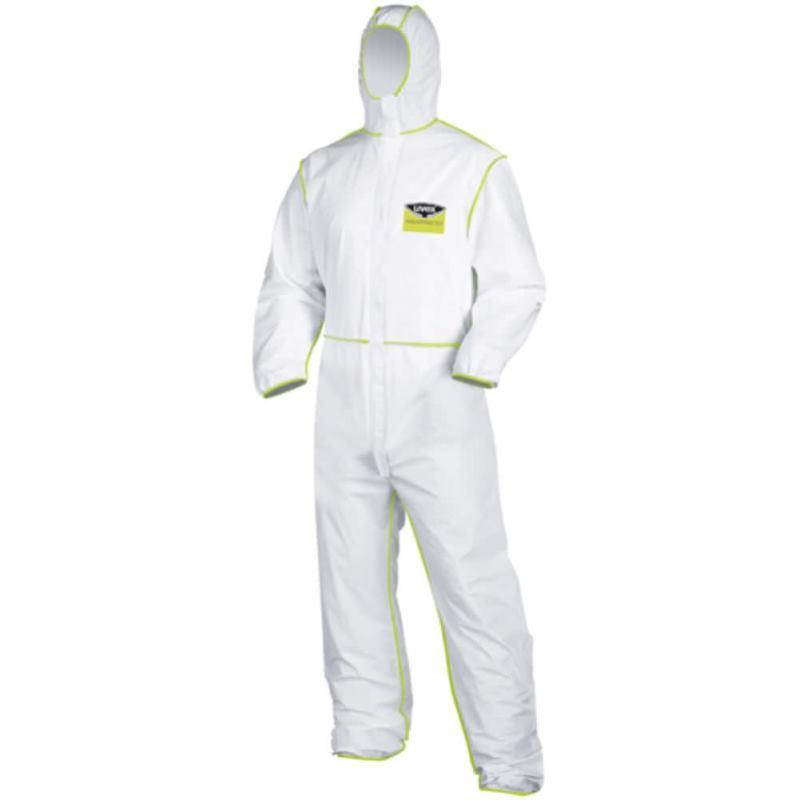 Einweg-Schutzanzug Gr. XL Farbe weiß. aus PE-Lami