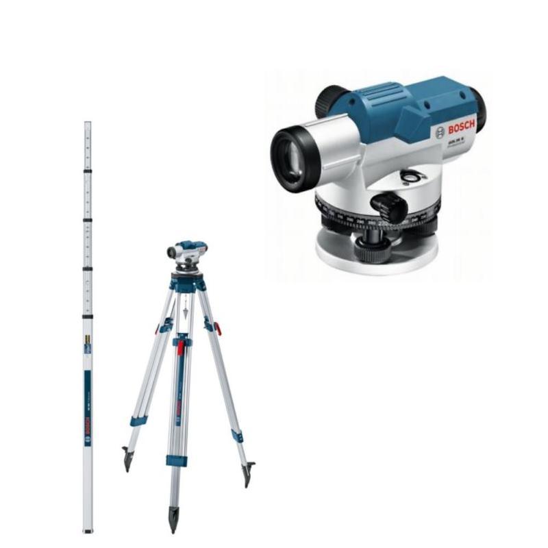 Optisches Nivelliergerät GOL 26 G mit Stativ BT160& Messlatte GR 500