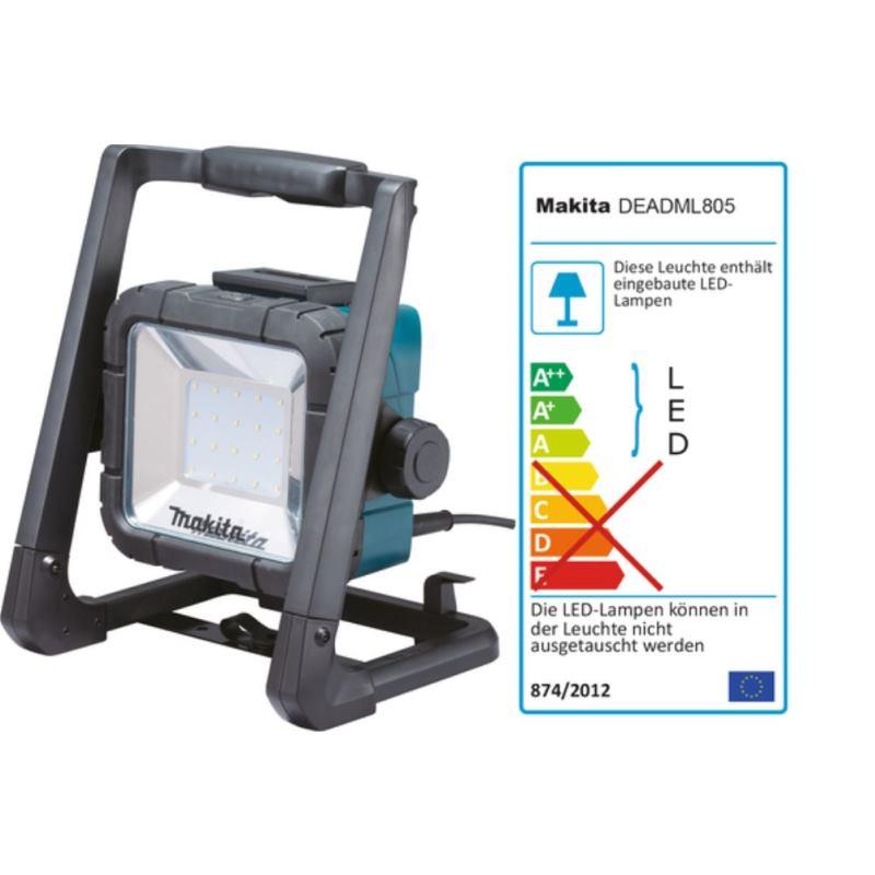 LED-Baustrahler DEADML805 14.4-18 Volt Akku & 230V