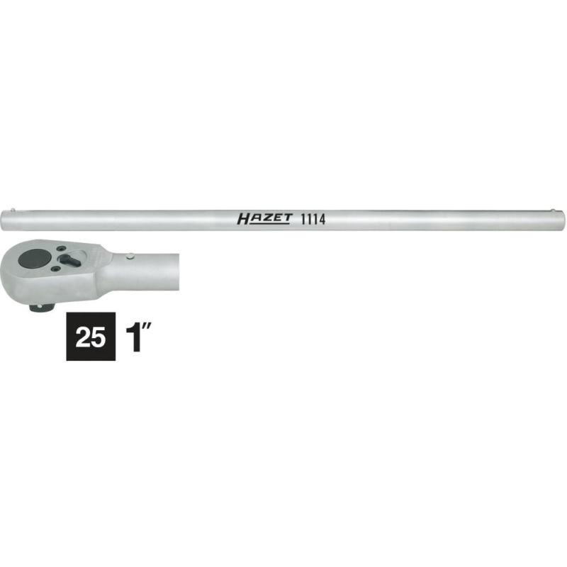 Umschaltknarre mit Drehstange 1116/2 · Vierkantmassiv 25 mm (1 Zoll) · l: 824 mm