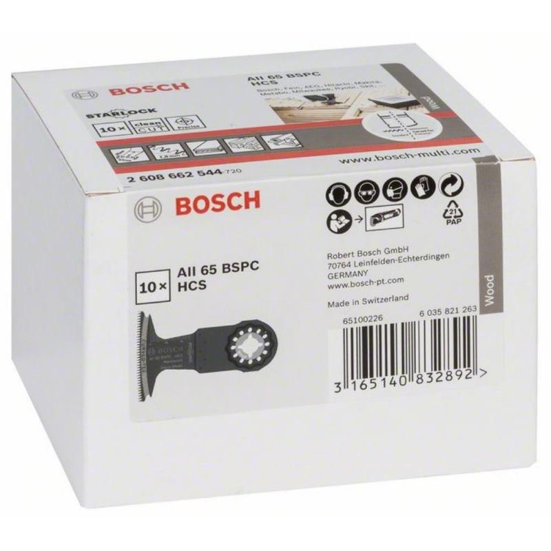 HCS Tauchsägeblatt AII 65 BSPC Hard Wood, 40 x 65mm, 10er-Pack