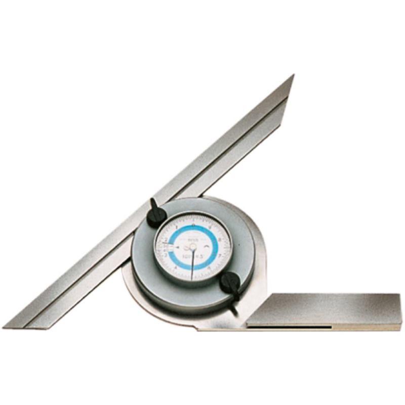 Winkelmesser mit Zifferblatt Schienenlänge 200 mm