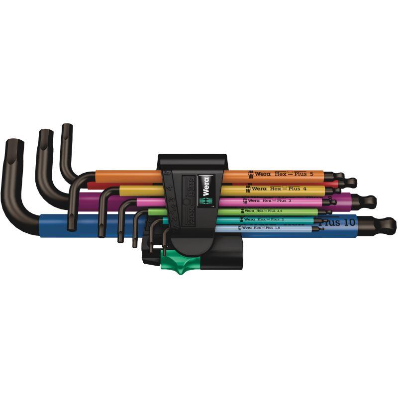 950 SPKL/9 SM N Multicolour Winkelschlüsselsatz. metrisch. BlackLaser. 9-teilig