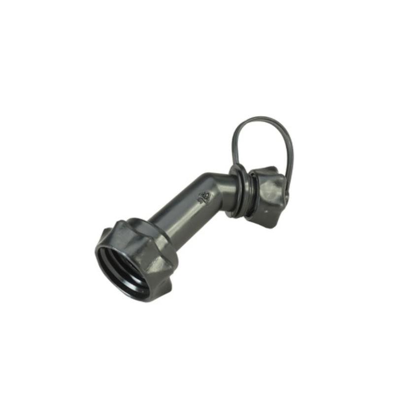 Auslaufrohr für Doppelkanister ECO+PROFI schwarz mit Verschluss